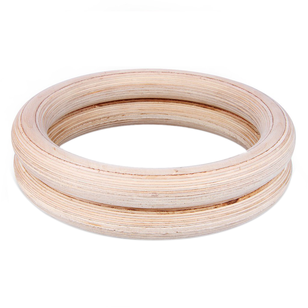 Professional Adjustable Birch wooden Gymnastic Cross fit Gym Strength Fitness Training Gym Rings Wooden Gymnastic Rings PullUp