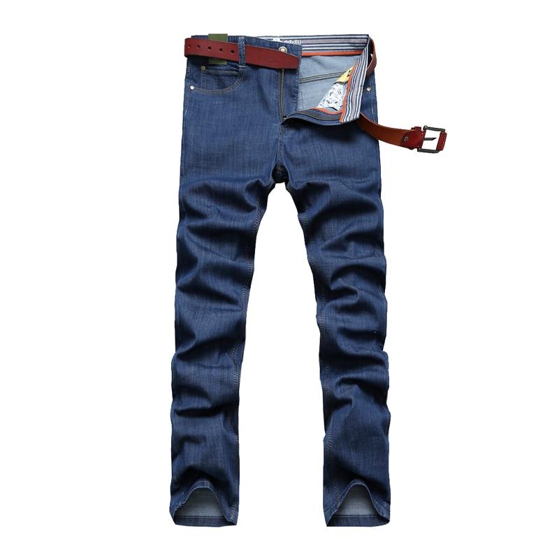 Autumn Winter New Jeans Men's Mid-Risef Soft Breathable Fashion Casual Men's Straight Pants Young Zipper Plus Size 30~42 Men New cartelo brand 2017 men new business nostalgic famous jeans denim trousers fashion men straight jeans stitching zipper male pants