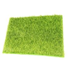 Искусственная трава коврик пластиковый газон трава зеленая синтетическая газон миниатюрный садовое украшение трава для миниатюрного садового кукольного домика