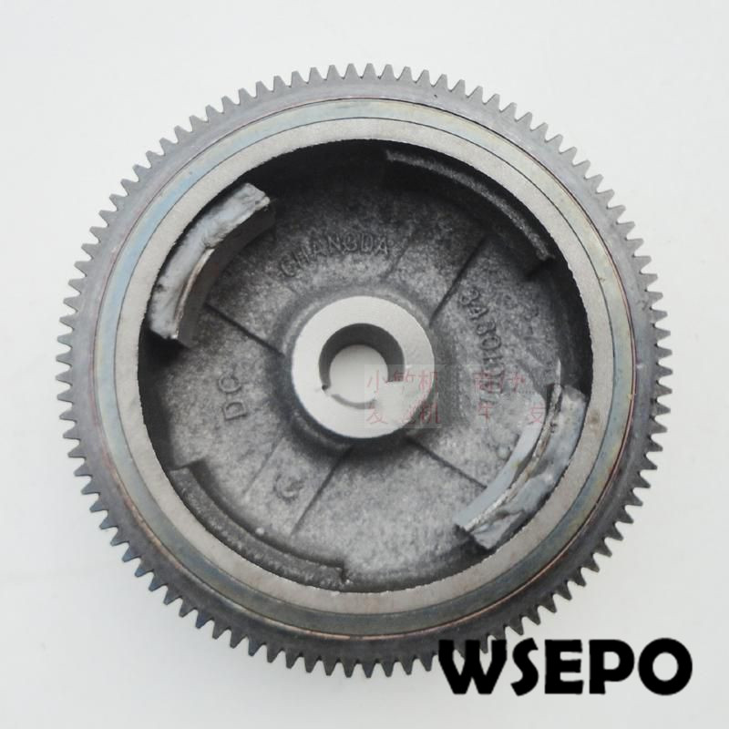 Chongqing Quality! Electric Start Flywheel With Gear Ring for 190F/GX420 420CC Small Gasoline Engine,7~8KW Gnerator Parts chongqing quality 100% copper winding rotor
