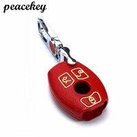 Peacekey Genuine Leather Key Wallet Case For Mercedes Benz Key Case Accessories W124 W203 W210 W211