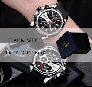 Image 4 - レロジオ masculino MEGIR メンズ腕時計トップブランドの高級クロノグラフ防水スポーツ男性時計ゴム腕時計 2086
