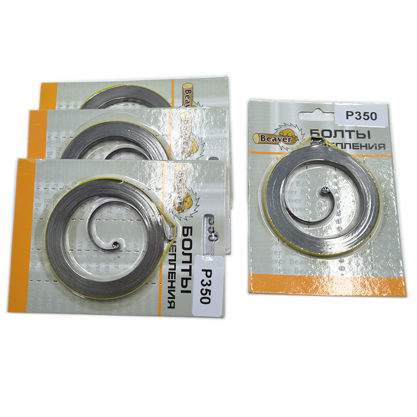 4PCS/Lot Recoil Starter Spring Kit WT Blister Card For Mcculloch MAC CAT 335 338 435 440 PARTNER 350 351 Chainsaw Parts