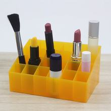 24 Grid Lipstick Holder Plastic Cosmetic Organizer Lipsticks Display Rack Portable Makeup Storage Box(China)