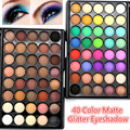 40 Color Matte Eyeshadow Palette Naked Warm Colors Shimmer Glitter Eye Shadow Power Cosmetic Makeup Kits
