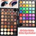 40 Cores Matte Eyeshadow Palette Nu Paleta de Cores Quentes Shimmer Glitter Poder Da Sombra De Olho Maquiagem Cosméticos Kits