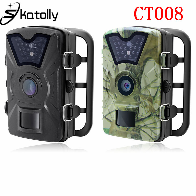 Skatolly CT008 12MP 1080P Hunting Trail Camera Wildlife Farm Game Scouting Cam Night Vision With Time Lapse 65ft 90 Degree PIR skatolly hc300m digital scouting infrared hunting camera 12p video mms gprs gps night vision trap game wildlife hunter trail cam
