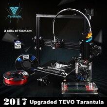 3D Комплекты Принтера TEVO Тарантул I3 Экструзии Алюминия 3D комплект Принтера 3d печать 2 Рулона Нити 8 ГБ ЖК SD card Как Подарок