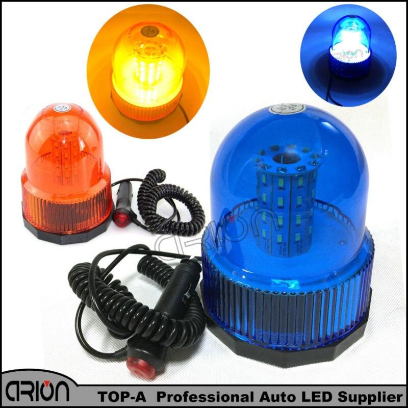 Blue Amber 40 Smd 40 Led Car Auto Truck Flashing Warning