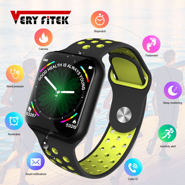 VERYFiTEK F8 Full Touch Screen Smart Watch, Blood Pressure & Heart Rate Monitor