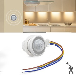 AC100V-240V PIR Motion Sensor Switch Auto ON/OFF IR Infrared Induction Detector 3 modes LED light Switch Time Delay Adjustable(China)