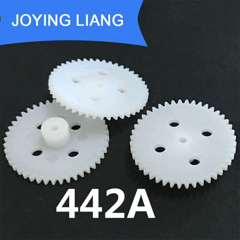 442A 0.5M 23MM Gear Modulus 0.5 44 Teeth Plastic Gear Wheel Toy Accessories