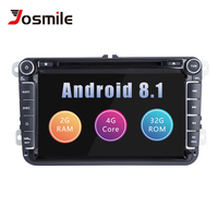 Josmlie 2 din Android 8.1 Car DVD Player Car Radio For Skoda Octavia 2 Superb VW Passat B6 Seat Leon Golf 5 T5Amarok Volkswagen
