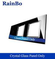 Free Shipping Luxury TripleCrystal Glass Panel 3 Frames And 1gang 0 0 Wall Switch Panel 222mm