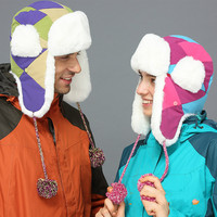 Paternity Winter Warm Thick Wind Protection Ear Cap Ski Hat Cycling Masks Hood Ski Winter Hiking Polar Outdoor Hombre women fur