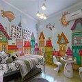 Free Shipping Children's room bedroom wallpaper cartoon boy and girl large mural custom wallpaper