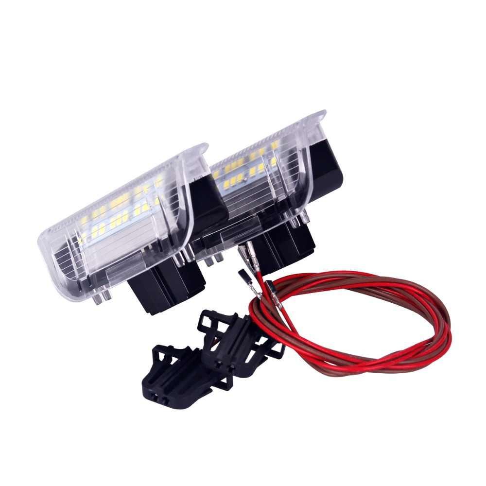 2 個 LED ドア警告灯プロジェクターランプフォルクスワーゲン VW ゴルフ 5 6 7 ジェッタ MK5 MK6 MK7 CC ティグアンパサート B6 B7 シロッコ