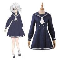 Zombie Land Saga Zombieland Saga Legendary Showa Idol Junko Konno Casual ver. Dress Outfit Cosplay Costume