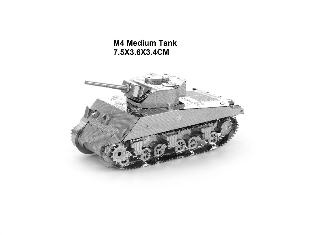 M4 Medium Tank model 3D laser cutting puzzle DIY metalic tank jigsaw free shipping best birthday