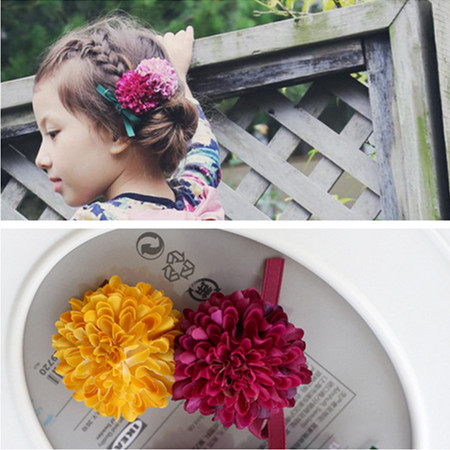 Korea high quality Retro Artificial Flower Crown Pastoral Hair Clip Hair Bows Hair Accessories Kid Headdress Headband Scrunchy