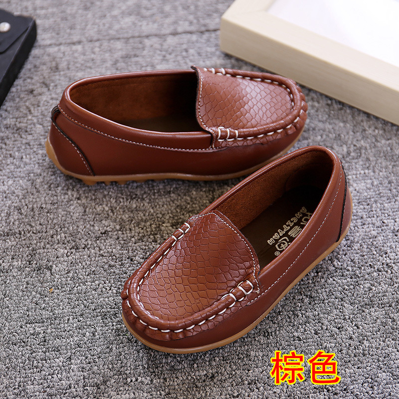 New Boy Girl Childrens Slip On Loafers Oxford Flat Shoes Kids Fashion -7702