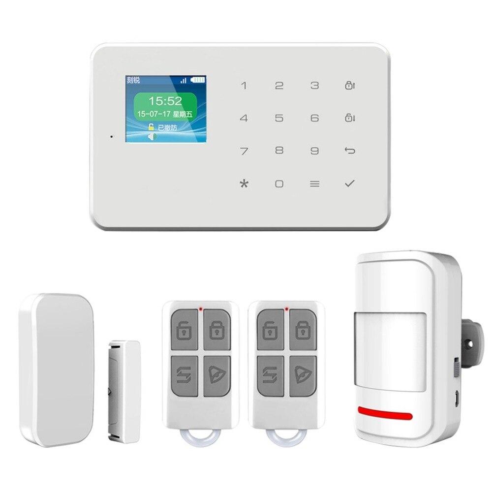 Secrui-G18 Беспроводной охранной сигнализации Главная GSM Системы DIY Kit приложение Управление с автодозвон детектор движения Сенсор охранной сиг...