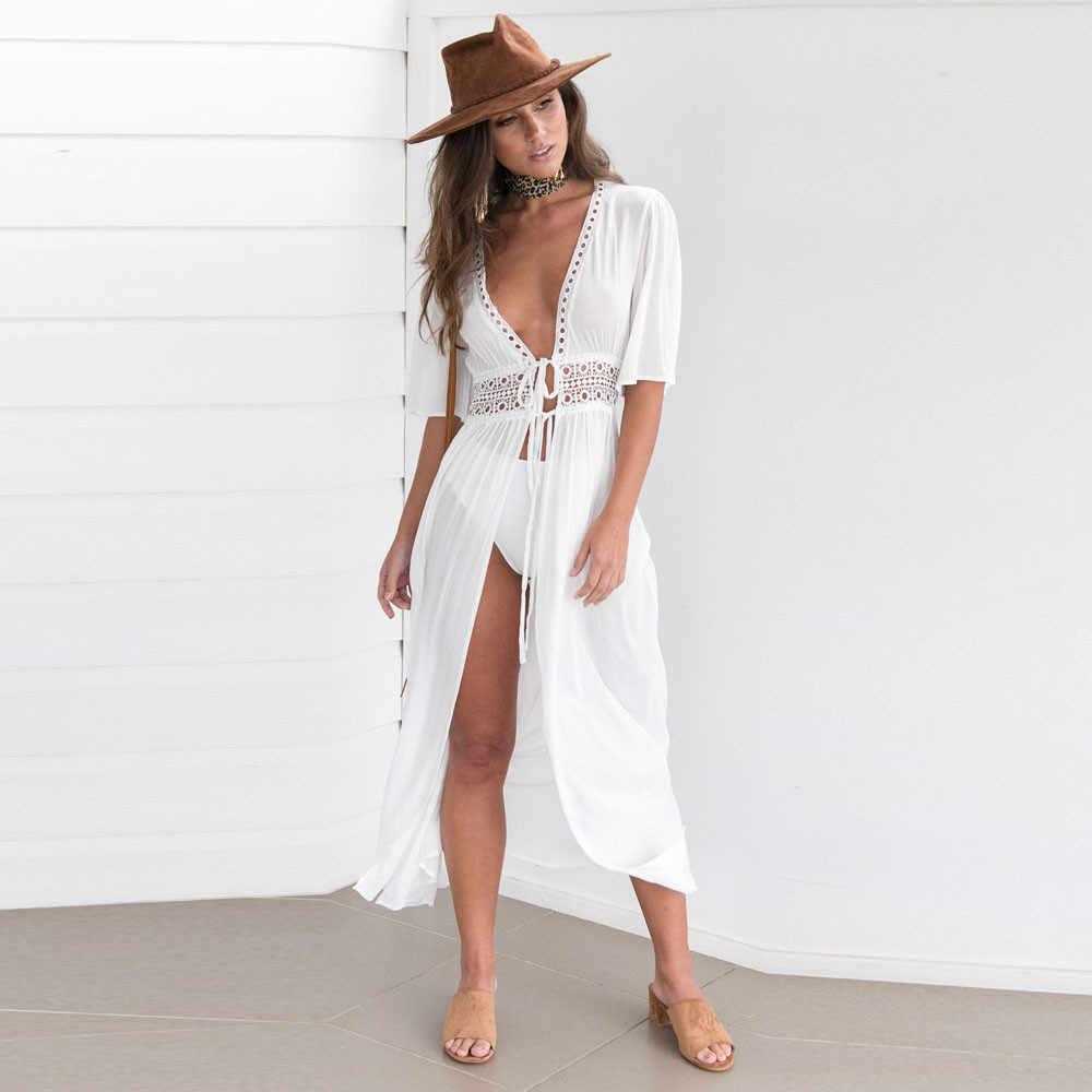 JAYCOSIN, сексуальное женское бикини, накидка, Пляжное платье, купальник, шифон, пляжная одежда, купальный костюм, летний праздник, кимоно, кардиган 409Z