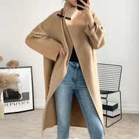Xr19 High Street winter woolen mantel frauen doppel wolle mantel langarm mode wolle mischung Mantel für Damen