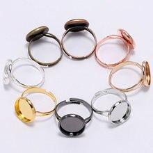 20 шт регулируемое кольцо заготовка основа подходит для ободка