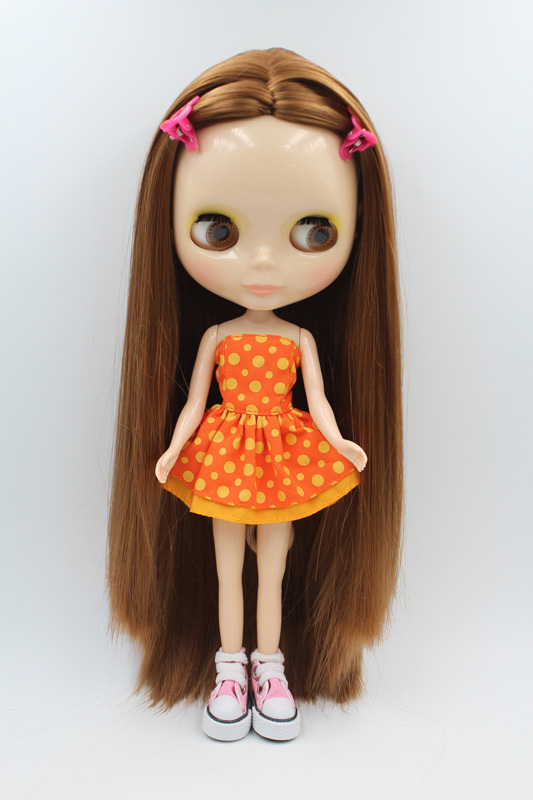 Free Shipping big discount RBL-272DIY Nude Blyth doll birthday gift for girl 4colour big eyes dolls with beautiful Hair cute toy big beautiful eyes косметический набор косметический набор big beautiful eyes