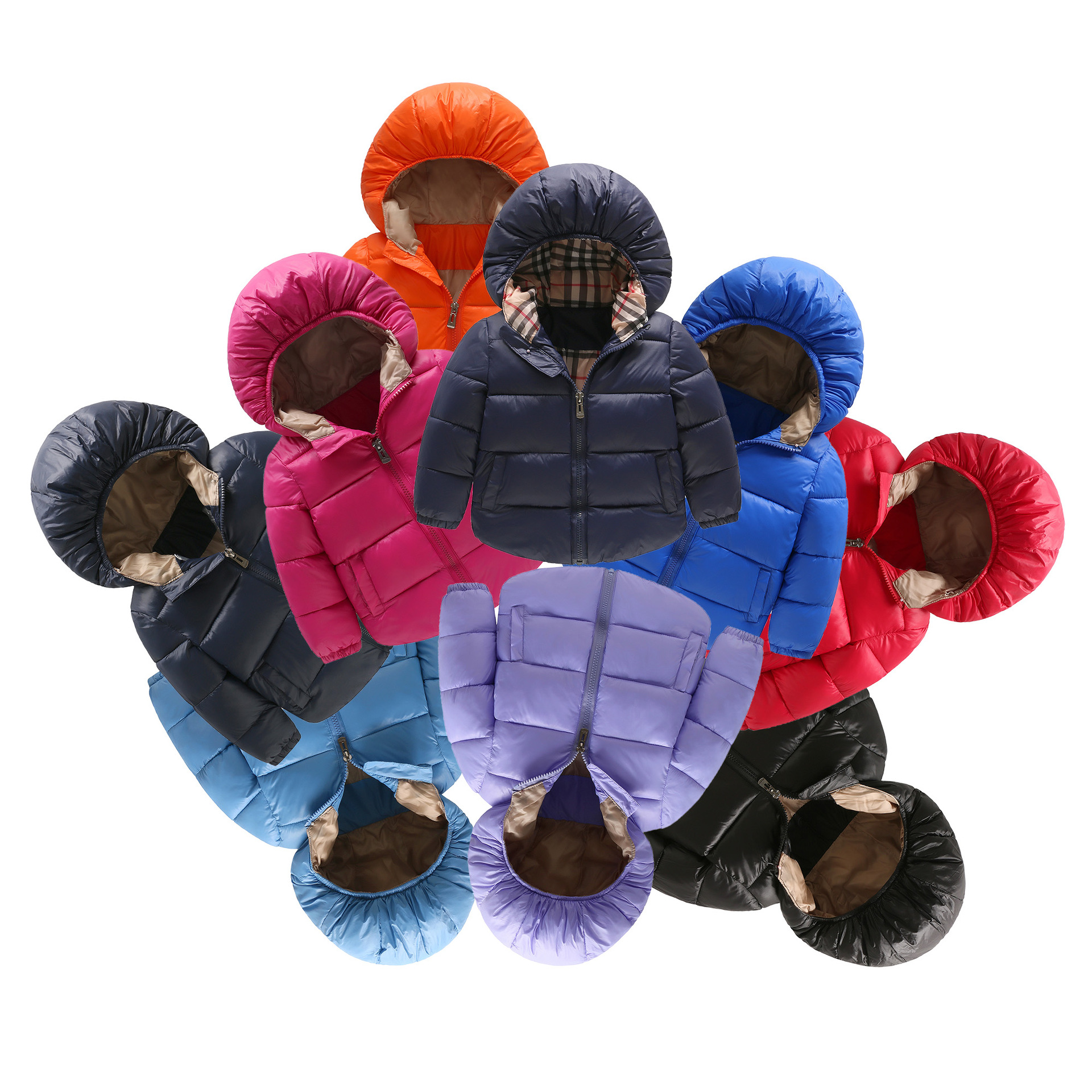Brand children jacket Outerwear Boy and Girl Winter Warm Down Hooded Coat kids jacket Boys Girls Cotton Children Warm Suits children duck down jacket coat with imitation fur boy girl removable hooded overcoat winter warm thick outerwear kid clothes