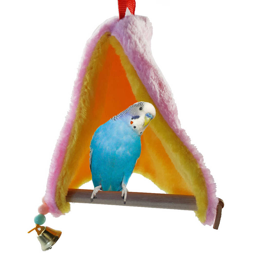 Warm Plush Pet Nest Bird Sleeping Hanging Parrot Budgie Parakeet Swing Nest Cage Bell cage