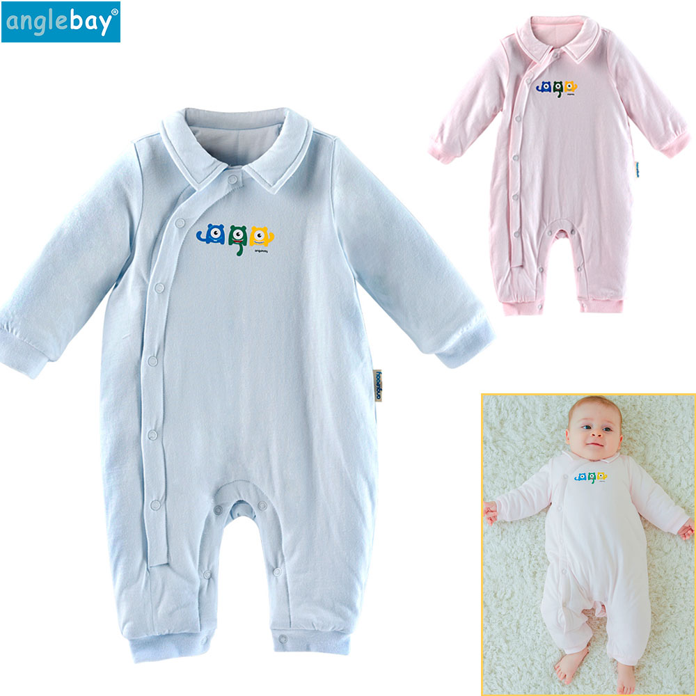 Anglebay Newborn Clothes 100% Natural Cotton Baby Boys Girls Knit Set for New Born Solid Long Sleeve Baby Clothing Sets Winter 2016 winter new soft bottom solid color baby shoes for little boys and girls plus velvet warm baby toddler shoes free shipping