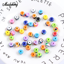 Meideheng Resin Round Beads Slime Crystal Mud Filler Needlework Beads For Jewelry Making Handmade Necklace Bracelets Design meideheng acrylic circle beads transparent electroplating slime crystal mud filler ornament accessories for hair ring needlework