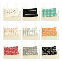 30x50 Высококачественная креативная Модная хлопковая льняная наволочка с принтом Fundas бросок кресло-Подушка Квадратные Подушки