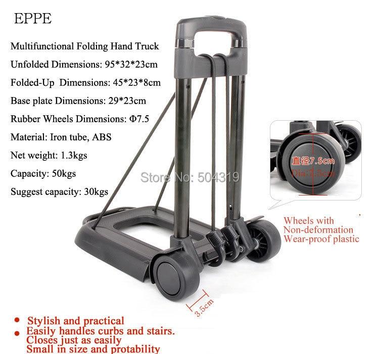 88cf405894bd Folding Hand Truck shopping cart luggage cart folding shopping ...