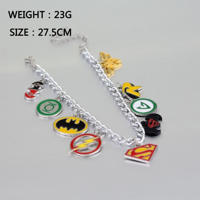 10 stks/partij De Avengers Armbanden Spider Man Black Panther Captain America Thor Hamer Schild Set Bedels Emaille Sieraden