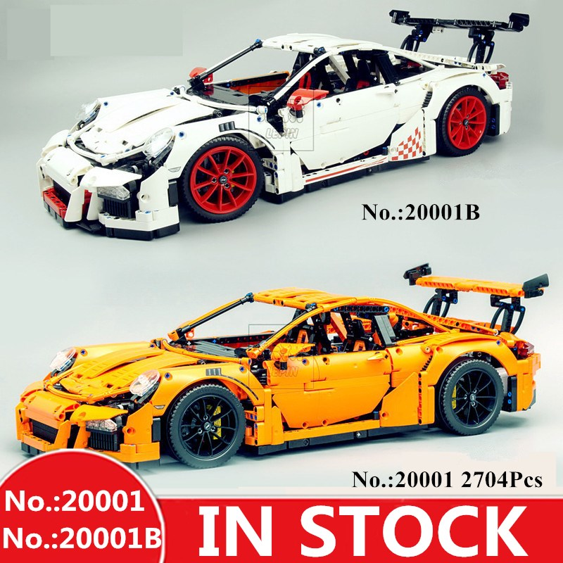 H HXY Technology Series 20001 20001B 2758Pcs 20086 4031Pcs White Orange Blue Car LEPIN Model Building
