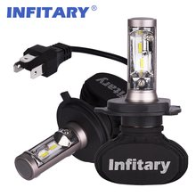 2Pcs Infitary H4 LED H7 Auto Car Headlight 9005 9006 H3 H13 H8 880 H27 9004 9007 H11 LED H1 S1 50W 8000LM 6500K Automobile Bulb(China)