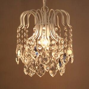 Image 3 - Plafonnier suspendu en cristal et fer à repasser, de caractère campagnard américain rétro, luminaire dintérieur, idéal pour une salle à manger ou une chambre à coucher