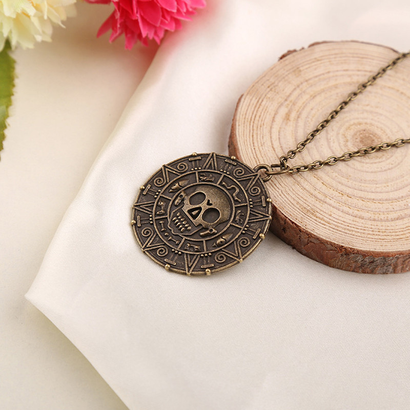 HTB1UJ9OfyMnBKNjSZFCq6x0KFXao - New Vintage Necklace Pirates of the Caribbean Aztec Gold Coin Necklace