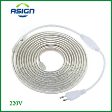 LED Strip Light SMD 5050 AC220V LED Strip Flexible 60leds/m Waterproof LED Light With Power Plug 1M/2M/5M/6M/8M/10M/15M/2