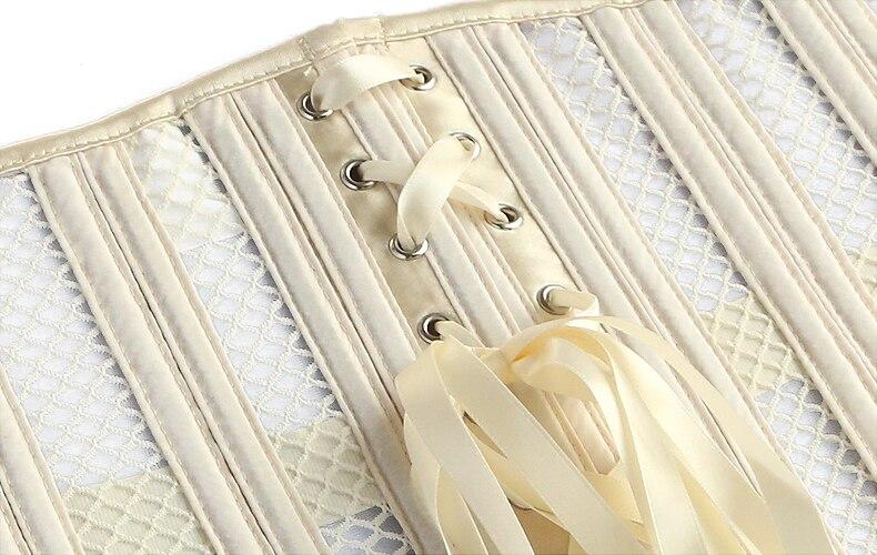 26 Steel Bones Body Shapers Girdles Mercerized Fabric Waist Trainer Corset Cleavage Tops Body Shaper Slimming Body Waist