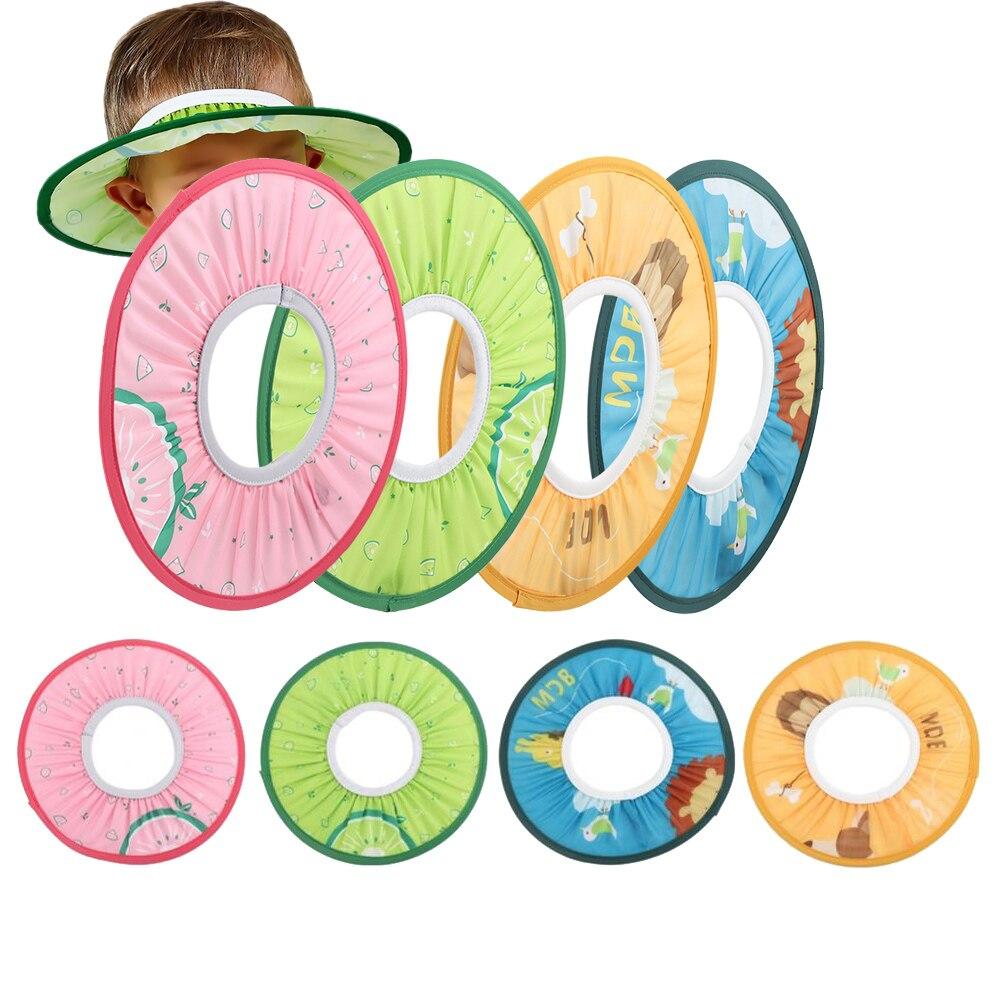 Детская шапочка для душа, защита для волос, защита для волос, шляпа для ванной, прямой козырек, водонепроницаемость, защита от воды в ухо для детей