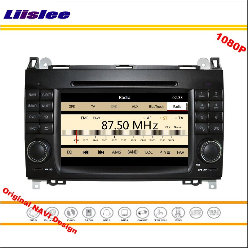 Lisslee For Mercedes Benz Viano Vito 2006~2016 Stereo Radio DVD Player GPS Navigation 1080P HD Screen System Original NAV Design