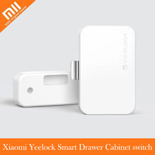 Xiaomi MIjia YEELOCK Smart Drawer Cabinet Switch via Bluetooth APP Unlock Keyless Unlock Safety File Anti-Theft for Smart home(China)