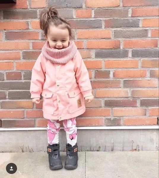 kids/children/girls Pure color parka & navy windproof/waterproof trench, spring/autumn jacket