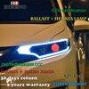 Hireno Car Styling Headlamp For Hodna Fit Jazz 2014 2016 Headlight Assembly LED DRL Angel Lens