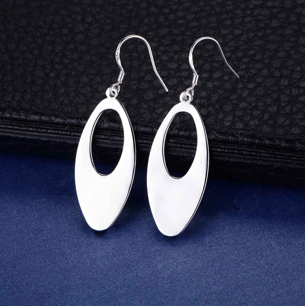 ES-AE312 Hot sale free shipping silver fine 925 jewelry Wholesale 925-Sterling-Silver charms fashion plain Earrings