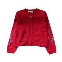 Children Girls Cardigan Sweater Kids Yellow Long Sleeve Jacket Girls Coat For 1 2 3 4